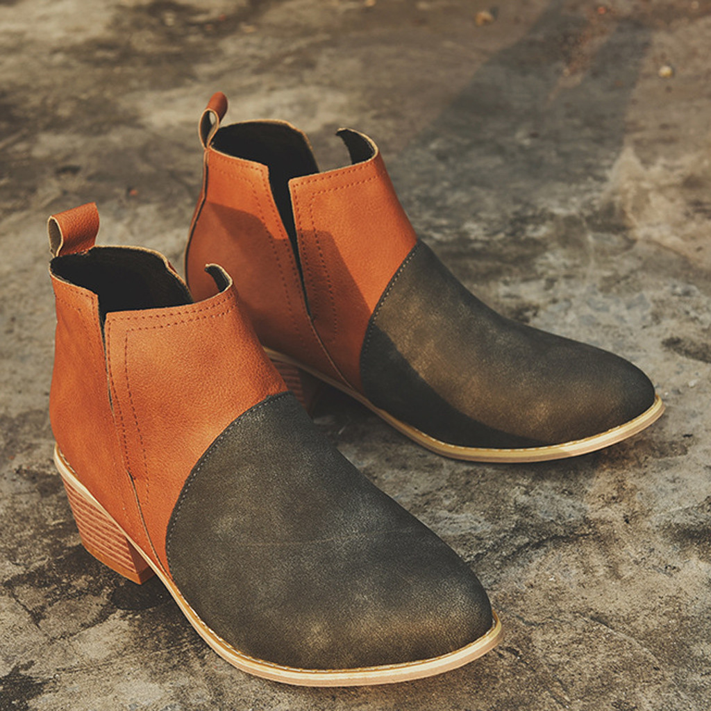 Jaycosin Roman shoes women ladies shoes Leisure Fashion Joint Thick Square Heel Boots women shoes woman chaussures femme 927 2
