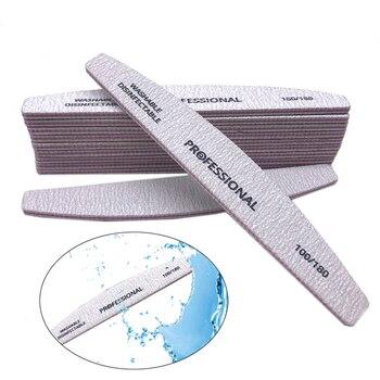 10PCS/LOT Nail Art Sanding Nail Files 100/180 Professional Nail File UV Gel Polisher Set Washable Sandpaper Limas para Manicura 10pcs lot lt6105ims8 lt6105 100