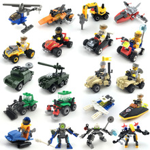 Toy House Building-Block Plane Car-Fire-Engine KAZI Truck Police Missile Hand-Made Boy