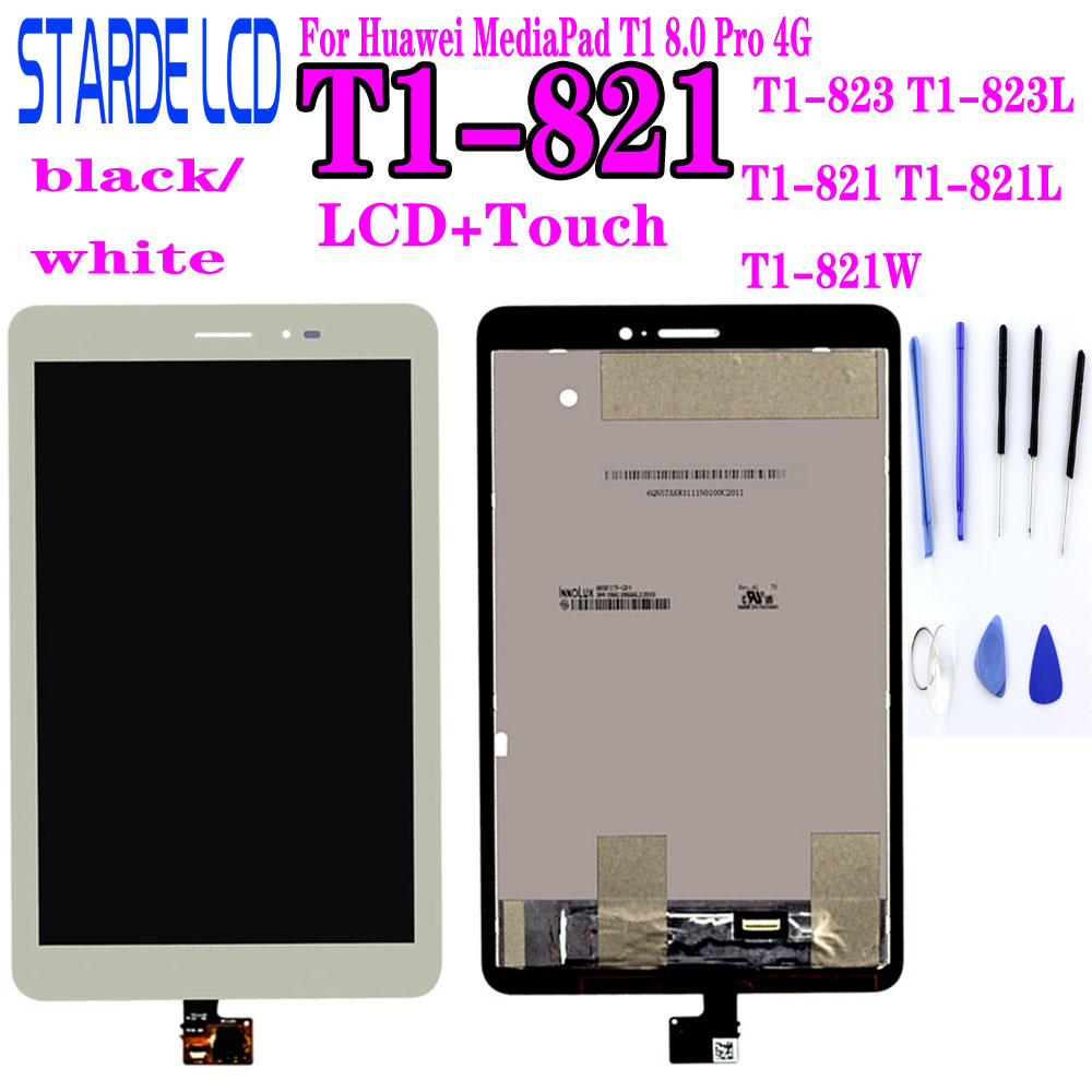 LCD For Huawei MediaPad T1 8.0 Pro 4G T1-821L T1-821W T1-823L T1-821 S8-701 LCD Display Touch Screen Panel Digitizer Assembly
