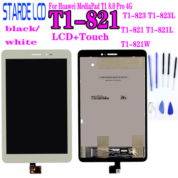 LCD For  Huawei MediaPad T1 8.0 Pro 4G T1-821L T1-821W T1-823L T1-821 S8-701 LCD Display Touch Screen Panel Digitizer Assembly 8 inch for huawei mediapad t1 8 0 s8 701u lcd display touch screen digitizer sensor full assembly tablet pc replacement parts