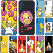 Funny Simpson Eat Silicone Phone Case for OPPO A8 A12 A31 A52 A72 A91 A92 A92S F15 Find