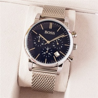 New Mens Watches Top Luxury boss Famous Watches Fashion Casual Leather Men Watches Quartz Watch Clock Men Relogio Masculino