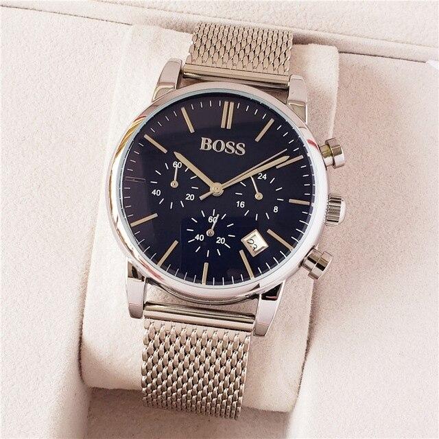 Nova Mens Relógios Top de Luxo chefe Famosos Relógios Moda Casual Homens De Couro Relógios Relógio de Quartzo Homens Relógio Relogio masculino