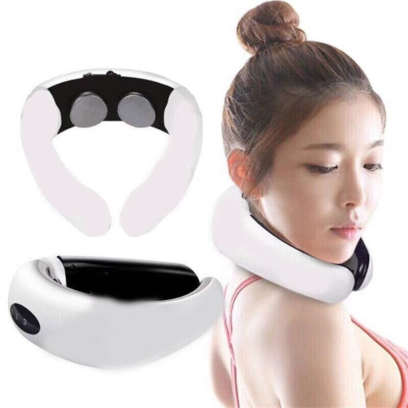 EMS Electric Pulse Neck Massager Muscle Stimulator Cervical Vertebra Impulse Massage Physiotherapeutic Acupuncture Magnetic