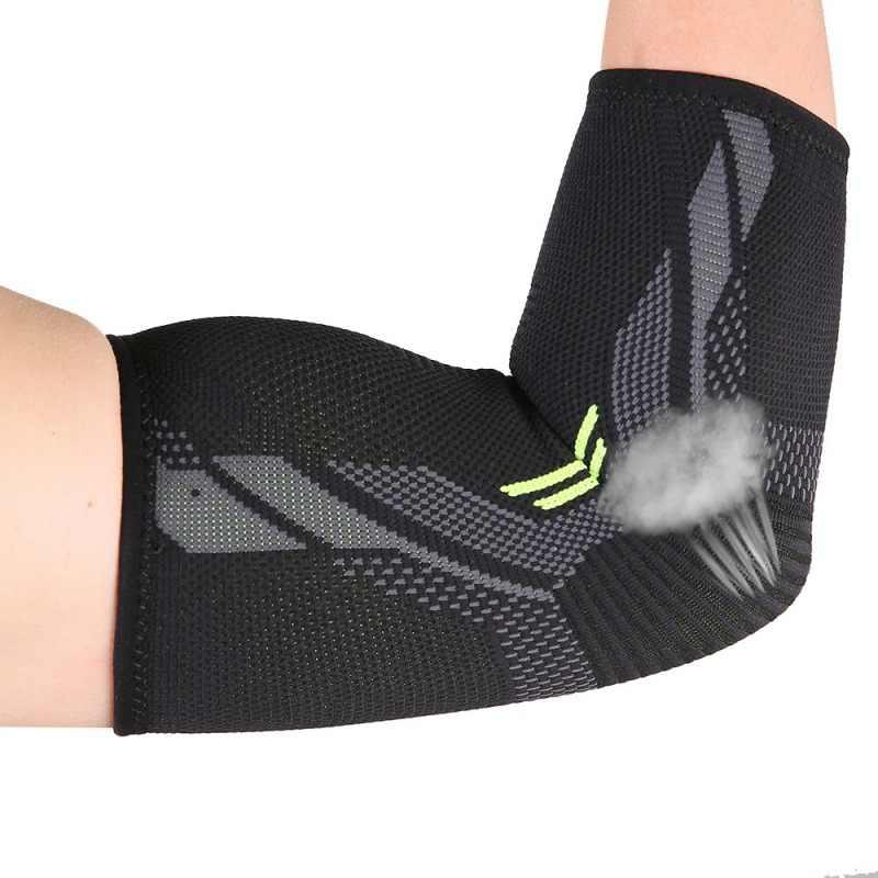 Локоть поддержки утягивающий налокотник Скоба упражнения Тяжелая атлетика артрит фитнес дышащий фиксатор для руки Бег езда z1224