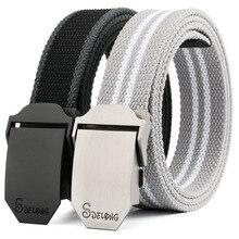 CETIRI Plus Size 110-160cm Men's Canvas Belt Smooth Buckle Belt