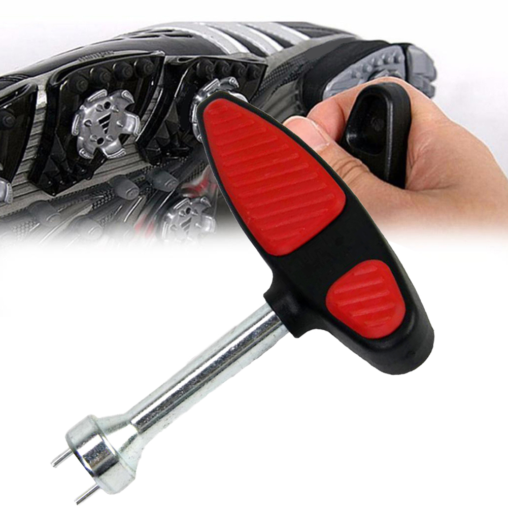 Deluxe Wrench Golf Cleat Spike Stud Removing Tool Golfer Shoes Nails Key Removal Puller Metal