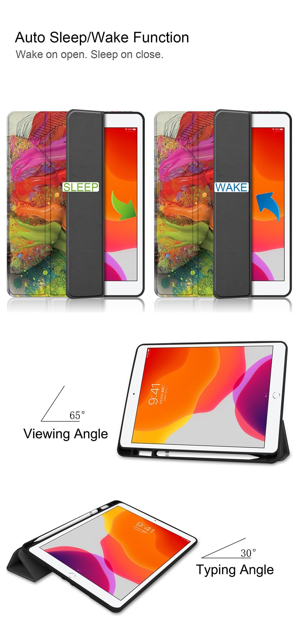Tablet 2020 8th iPad 10.2 TPU Flip Soft Leather 7th Generation +PU Case inch For MTT