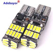 500 adet T10 4014 26 SMD w5w canbus araba İç işık 194 501 led gösterge elektrik ampulü lamba kubbe ışık hata yok 12V 6000K