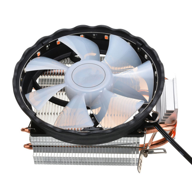 Rgb led dissipador de calor ventilador refrigeração silencioso cpu cooler 3 pinos rgb ventilador cooler para intel lga 1150 1151 1155 1156 1366 775 amd