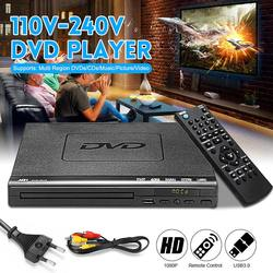 Multi Region 1080P Full HD DVD Player USB 2.0 3.0 DVD Player Multimedia Digital DVD TV Support HDMI CD SVCD VCD MP3 Function