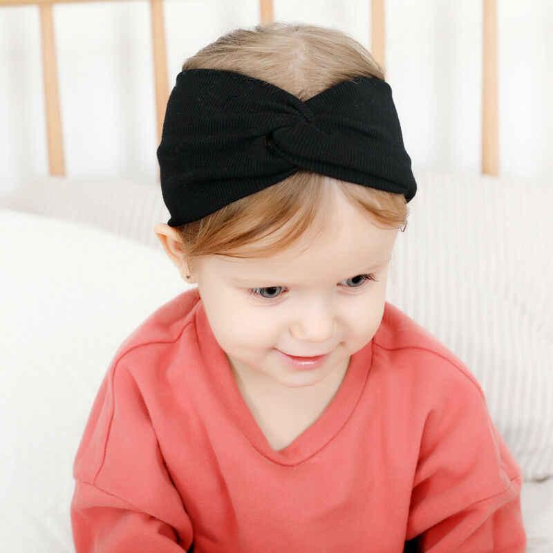 2020 الطفل الاشياء اكسسوارات الاطفال فتاة بوي الطفل عقال طفل الدانتيل عبر رباط شعر أغطية الرأس الصلبة مطاطا أغطية الرأس الدعائم