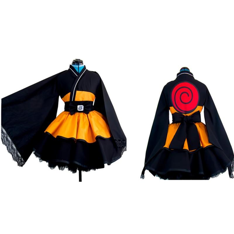 Naruto: Costumes de bateau NARUTO Uzumaki Naruto lolita jupes Lolita kimono robe anime Cosplay Halloween dames fête uniforme