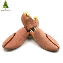Деревянный дом для мужчин и женщин с двойной трубкой Регулируемый Красный Кедр для обуви дерево для обуви
