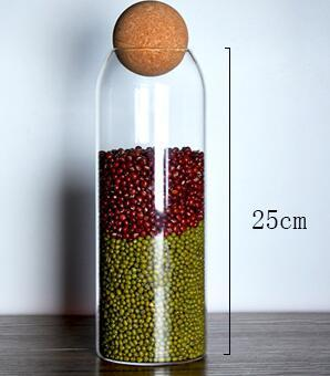 Ball cork lead-free glass jar with lid bottle storage tank sealed tea cans cereals transparent storage jars coffee contains 10