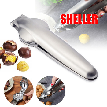 Clip con forma de castaña Cracker alicate de nogal Metal tuerca abridor alicates Acero inoxidable herramientas de cocina UD88