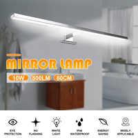 10 w 800lm mais longo led espelho lâmpada de parede luz parede branca 60cm à prova dwaterproof água alumínio iluminação banheiro espelho maquiagem luz