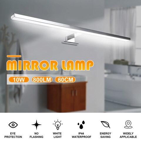 10 w 800lm mais longo led espelho lampada de parede luz parede branca 60cm a