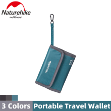 Naturehike Portable Anti-theft Brush Travel Wallet Multifunction 30D Waterproof Certificates Storage Bag 3 Colors Plane Train