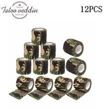 12 шт камуфляжные одноразовые когезивные татуировки сцепление