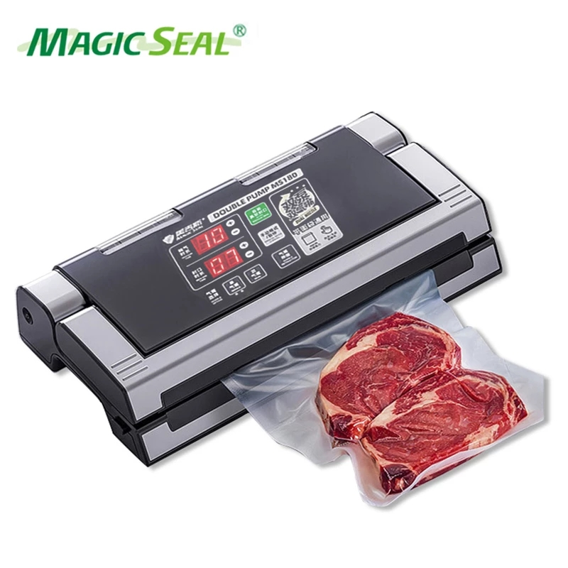 MAGIC SEAL MS180 Vacuum Sealer Packaging Machine Small External Pumping Commercial Household Food Preservation Machine