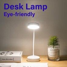 Lâmpada de mesa led proteção para os olhos amigável pode ser escurecido luz recarregável dobrável lâmpada de mesa led trabalho lâmpada de leitura estudo