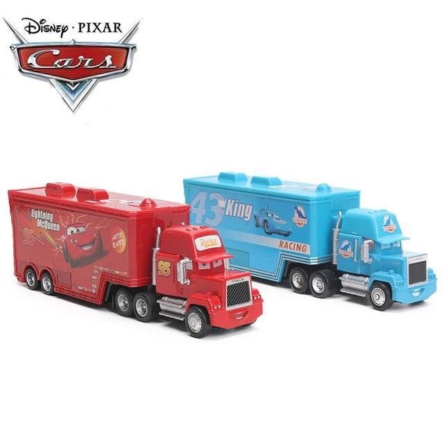 4-21cm Disney Pixar voitures 2 jouets foudre McQueen Mack oncle TruckThe roi poussin Hicks 1:55 moulé sous pression voiture modèle jouet enfants garçon cadeau