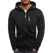 The Latest Fashion Casual Zipper Pocket Men's Jacket Warm Jacket Men's Brand Clothing Long Sleeve Sweatshirt Plus Size Jacket
