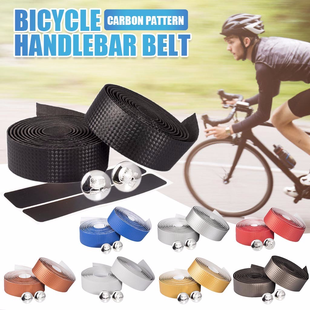 2 Bar Plugs Racing Bicycle Handlebar US 2x Road Bike Handle Tape Grip Bar Wrap