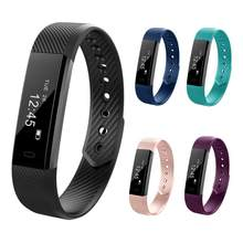ID115 HR PLUS Tahan Air Smart Gelang Watch Sport Pedometer Gelang untuk Android IOS PK Xiomi Mi Fitbits dengan Monitor Detak Jantung(China)