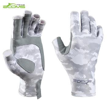 Wysięgniki wędkarskie FG2 wędkarskie pół palcowe rękawiczki bez palców wędkarstwo muchowe anty-uv ochrona przeciwsłoneczna UPF50 + antypoślizgowe oddychające Outdoor tanie i dobre opinie booms fishing Fishing gloves Pół palca Anti-slip Elastane microfiber fabric Anti-UV Sun Protection UPF50+ Anti-slip