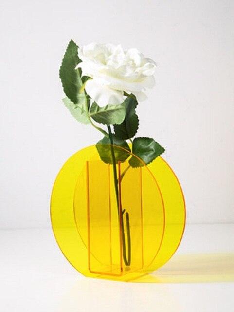 O.RoseLif Hotel Wedding Office Home Decoration Creative  Acrylic Vases Magic Geometry Terrarium Hydroponic Flower Bottle 5