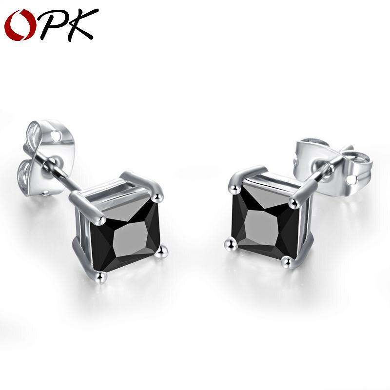 Boucles d'oreilles coréennes OPK, épingles d'oreilles en argent, clous d'oreilles, quatre griffes