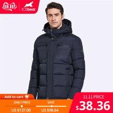 ICEbear 2019 chaquetas de invierno para hombres pecho exquisito bolsillo Simple dobladillo práctica cremallera impermeable de alta calidad Parka