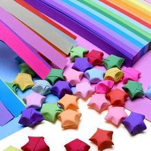 цена на Origami Star Paper Strip Package Origami Paper Stars Rainbow Color Handmade Lucky Stars Wish Star Wishing Bottle Gift Home Decor