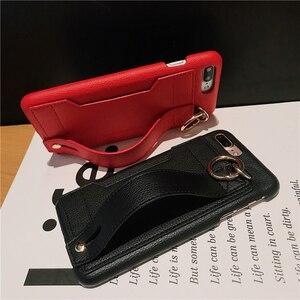 Image 3 - ファッションクリエイティブリストバンド潮電話ケース iphone × xr xs 最大 6 6 s 7 8 プラス破砕にくいブラケット収納ボックスバックカバー