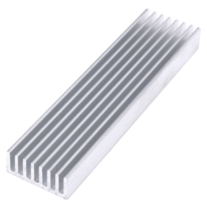 Aluminum High Power Heatsink Electronics Radiator 100*25*10mm