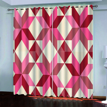 geometric curtains Luxury Blackout 3D Window Curtains For Living Room Bedroom Customized size 3d curtains