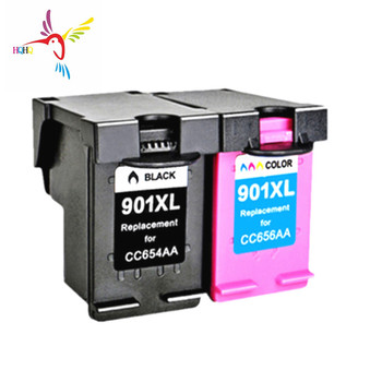 Stable quality 2pcs/set Compatible ink cartridge 901xl with one time chip for HP  j4580 j4640 j4660 j4680 4500 printers
