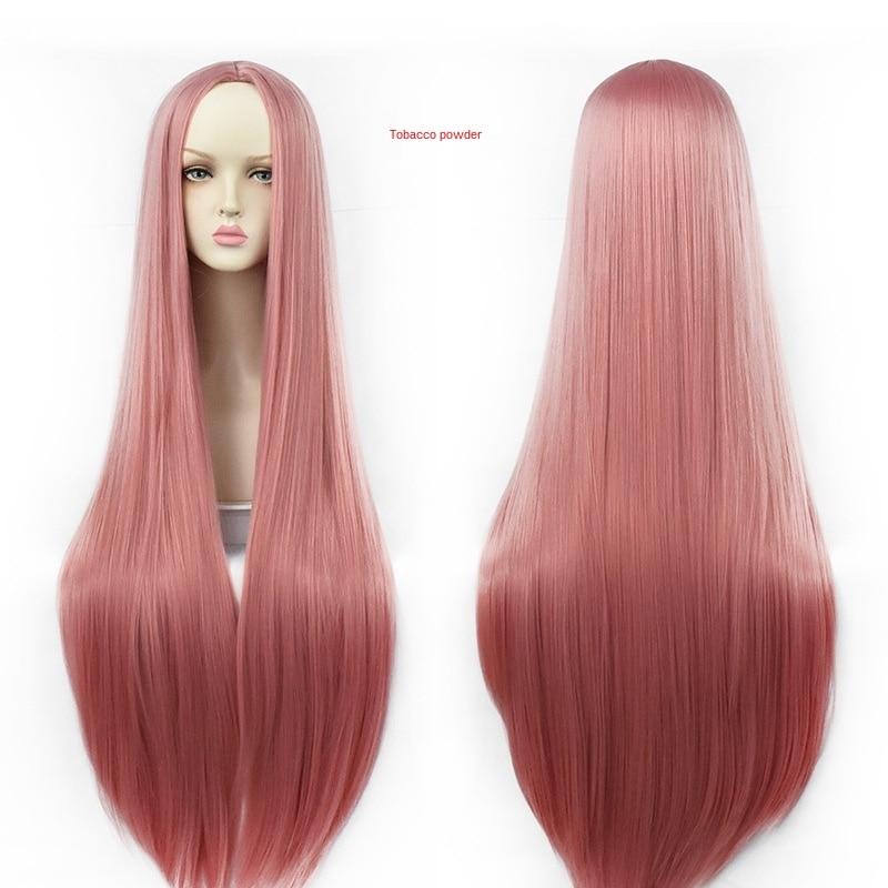 Купить косплей парик черный розовый универсальный прямые волосы мультфильм