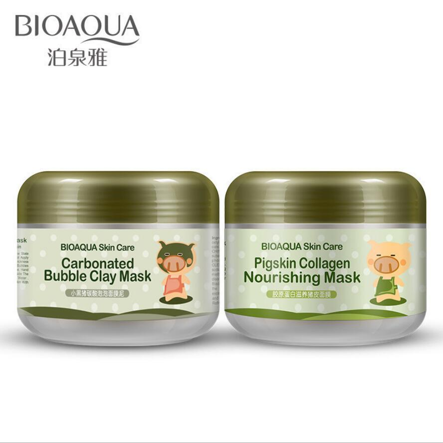 BIOAQUA Carbonated Bubble Clay Face Mask Nutrition Repair Face Cream Hydrating And Moisturizing Skin Care Whitening Facial Masks