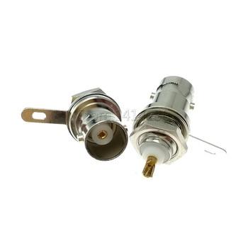 5 uds 50KY BNC socket panel Q9 hembra para vídeo BNC conector conversión zócalo de osciloscopio fuente de señal