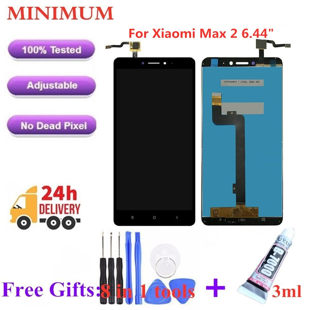 For Xiaomi Mi Max 2 6.44 LCD Display Touch Screen 100% Tested Well Digitizer Assembly Replacement Parts For Xiaomi Max2 LCDs