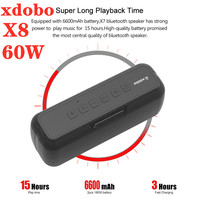 Altavoz portátil Bluetooth de 60W, Subwoofer impermeable para exteriores, columna de sonido para cine en casa, reproductor de música con tarjeta USB/TF