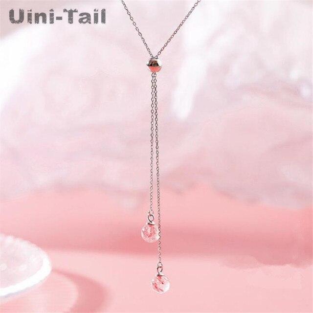 Uini-collier en argent sterling 925, fraise rose, simple, à la mode, tendance, tendance, nouveau, haute qualité, ED560