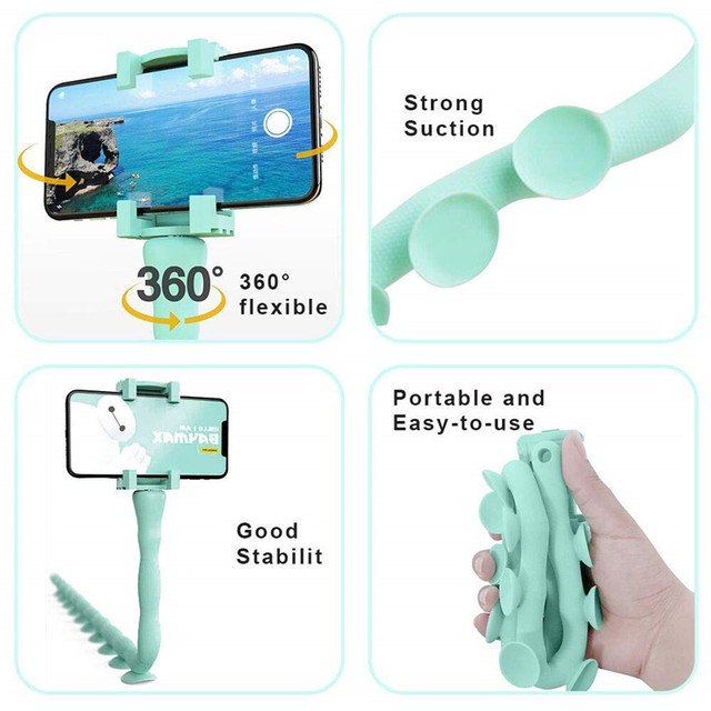 Bendable Flexible Selfie Stick Waterproof Handheld Smartphones Monopod Stand Tripod Mount Suction Cup Bluetooth Remote For Phone 1