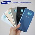 SAMSUNG Galaxy S7 G930F S7 край G935F стеклянная крышка для аккумуляторного отсека Samsung S7/S7 край задняя дверь корпус с адхэсивер наклейки