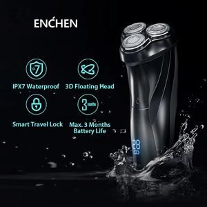 Image 2 - Youpin Enchen BlackStone 3 ماكينة حلاقة كهربائية ثلاثية الأبعاد الثلاثي العائمة شفرة رؤساء شفرات حلاقة الرجال الوجه أداة تهذيب اللحية