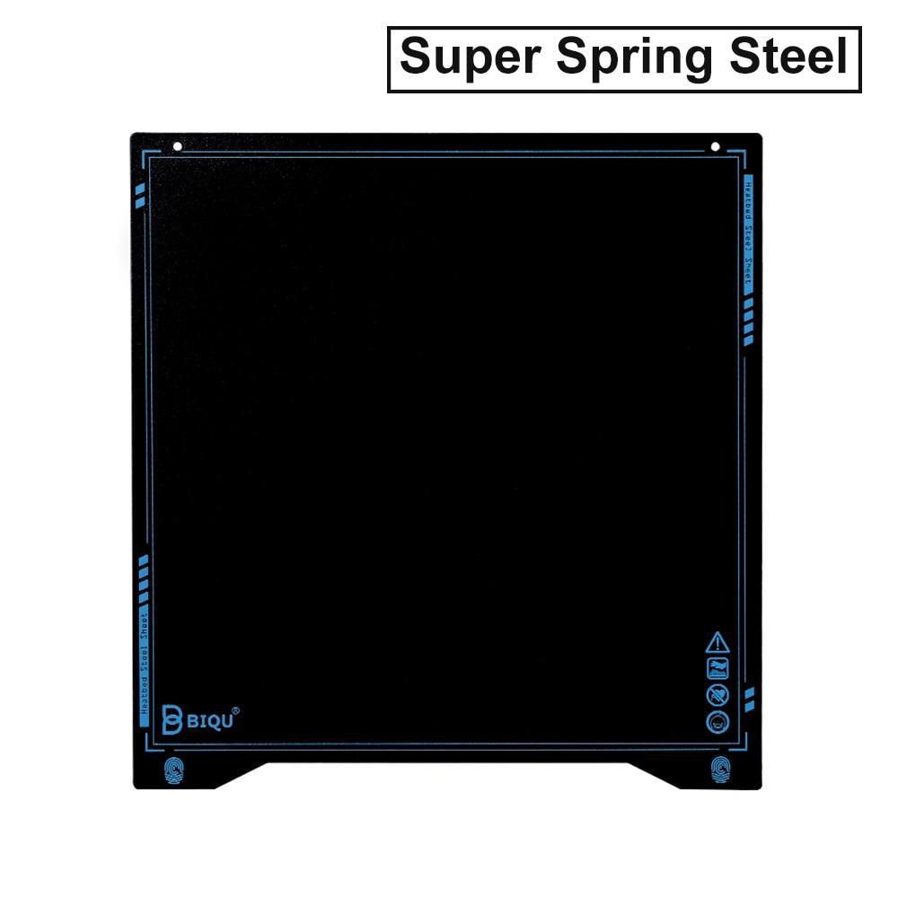 BIQU SSS B1 Super Spring Steel Sheet Heatbed Platform 310*310 235*235 Steel Plate PEI 3D Printer Parts For ender-3 cr10 I3 mega